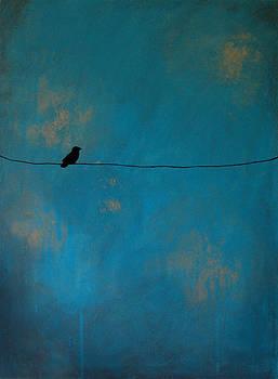 Lone Bird in Blue by Nicole Dietz