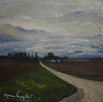 Lone Country Road by Monica Veraguth