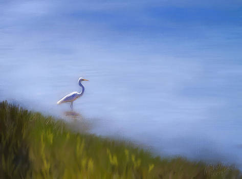 Michelle Wrighton - Lone Egret Painting