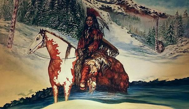 Lone wolf by Kendra Sorum