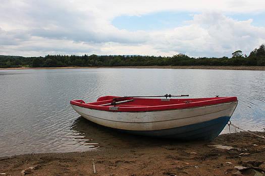 Lonely boat by Diana Dimitrova