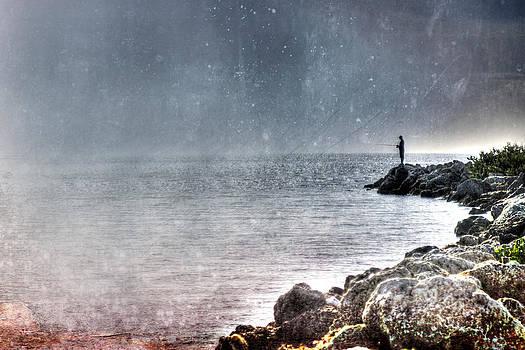 Lonely Fisherman by Ken Reardon