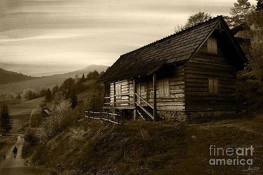 Lonely house by Joanna Cieslinska