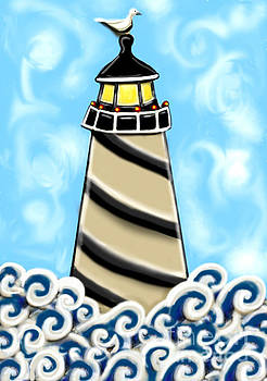 Lonely Lighthouse by Cynthia Snyder