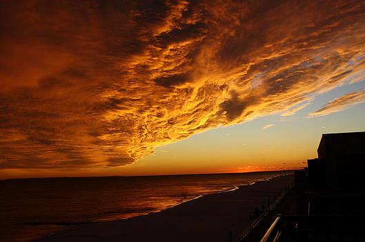 Long Beach Sunset by Deborah Jahier