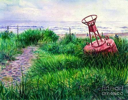 Long Beached Buoy by Cynthia Pride
