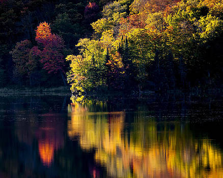 Long Pond Autumn Reflections by Alan L Graham