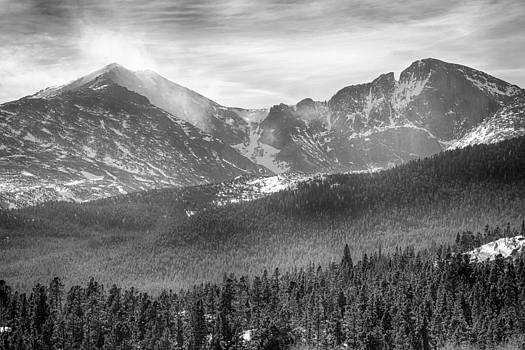 James BO  Insogna - Longs Peak Winter View BW