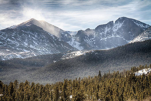 James BO  Insogna - Longs Peak Winter View