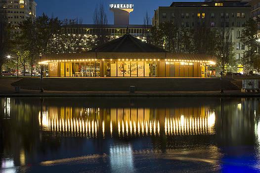 Looff Carrousel Reflection by Paul DeRocker