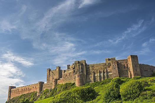 David Taylor - Looking up at Bamburgh Castle