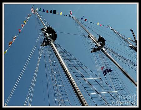 Gail Matthews - Looking up at the Tall Ship