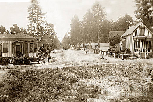 California Views Mr Pat Hathaway Archives - Looking up Forest Ave. from Oceanview Ave. Pacific Grove circa 1887