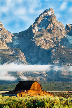 Looming Summit over Barn by Kirk Strickland