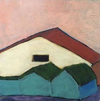 Looming Yellow Barn by Molly Fisk