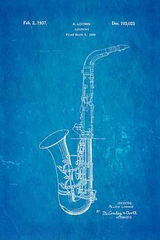 Ian Monk - Loomis Saxophone Patent Art 1937 Blueprint
