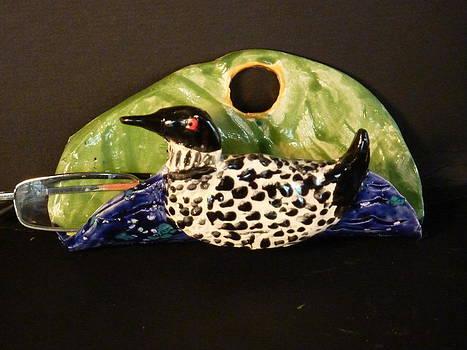 Loon eyeglass  holder  by Debbie Limoli