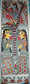 Lord Krishna on kadamb tree by Rajnish Kr