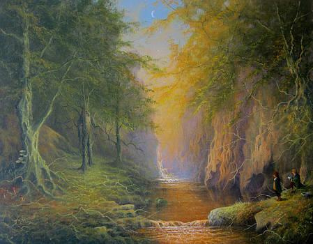 Lord Of The Rings Fangorn Treebeard Merry and Pippin by Joe  Gilronan