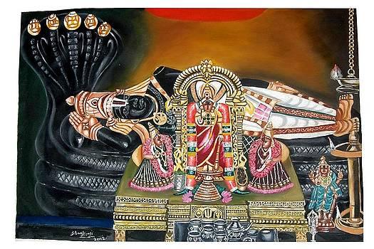 Lord Rangar Of Srirangam by Sankaranarayanan