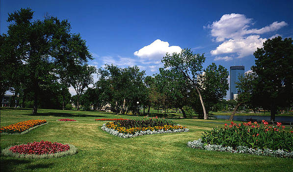 Loring Park with Flowers by Lonnie Paulson