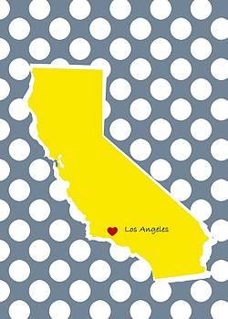 Los Angeles California Map by Bao Studio