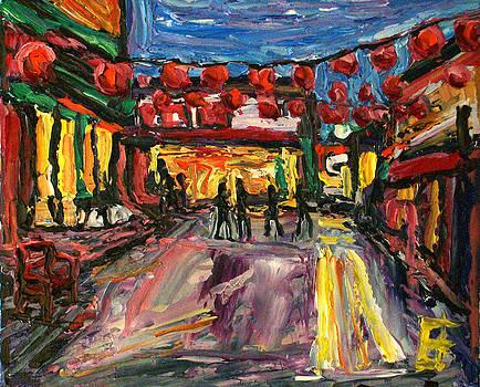 Allen Forrest - Los Angeles Chinatown Courtyard