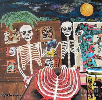 Los Aztecas tienen hambre de perro by Visual Renegade Art