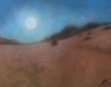 Robin Street-Morris - Moon Over Los Penasquitos Canyon with Coastal Fog