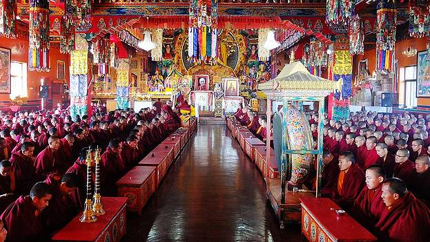 Losar celebrations at Kopan Monastery by Greg Holden