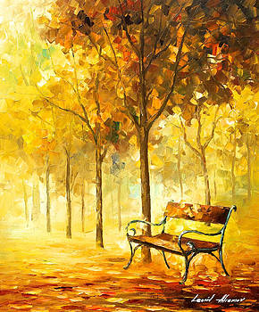 Lost Bench 2 - PALETTE KNIFE Oil Painting On Canvas By Leonid Afremov by Leonid Afremov