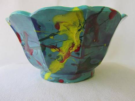 Lotus Bowl Plant Pot Ceramic by Jay Kyle Petersen