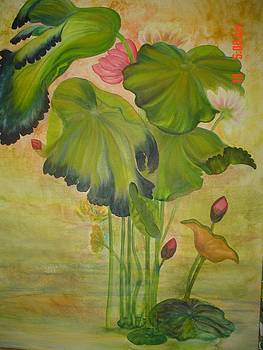 Lotus Leaves by Geri Jones