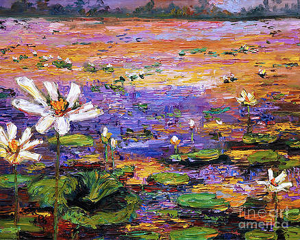 Lotus Pond by Ginette Callaway