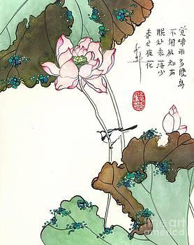 LINDA SMITH - Lotus with Bird