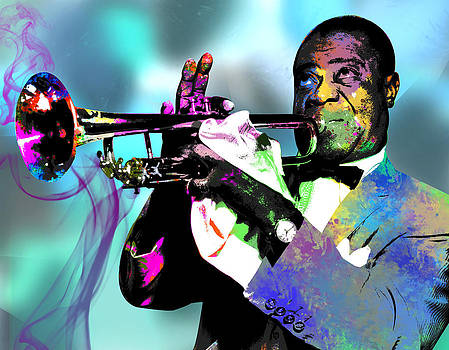 Louis Armstrong by Michael Jadach