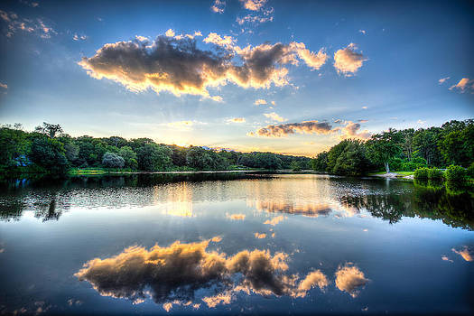 Louisa Lake Milford MA by James Wellman
