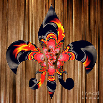 Louisiana hot Fleur De Lis Digital painting  by Heinz G Mielke
