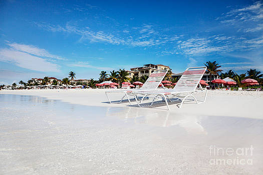 Jo Ann Snover - Lounge chairs on Grace Bay Beach