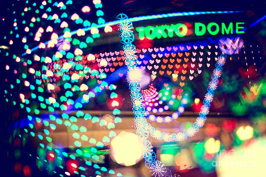 Beverly Claire Kaiya - Love and Tokyo Dome with Colorful Psychedelic Heart Lights