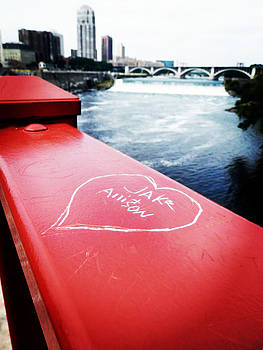 Love By Mississippi River by Zinvolle Art