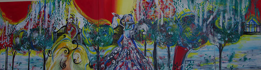 Love Dance in five panell by Sima Amid Wewetzer