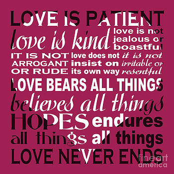 Love is Patient - Heart Design by Ginny Gaura
