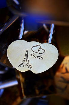 Love Padlock Paris by Riad Belhimer