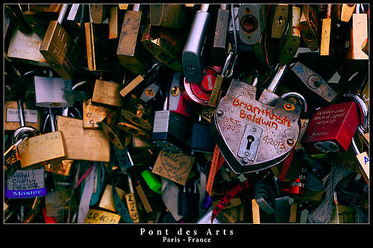 Love Padlocks on Pont des Arts in Paris by Dany Lison