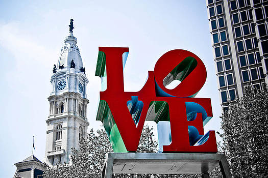 Love Park and City Hall by Stacey Granger