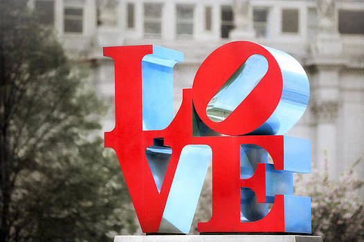 Love Sculpture - Selective Color - Philadelphia by Photography  By Sai
