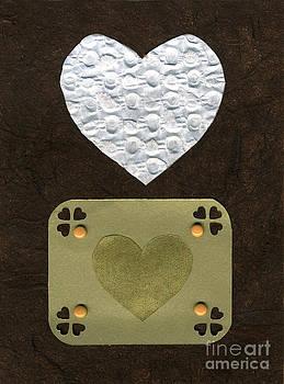 Ellen Miffitt - Love Series Collage - Heart  1-B