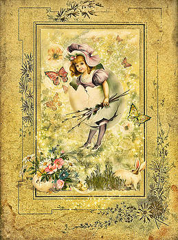 by Gynt - Lovely Easter Greeting Card in vintage style