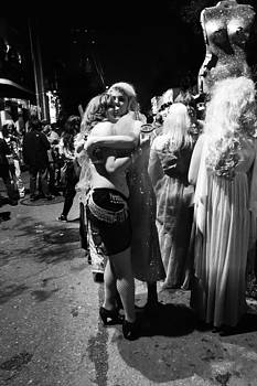 Lovely Ladies at Krewe Du Vieux in New Orleans by Louis Maistros
